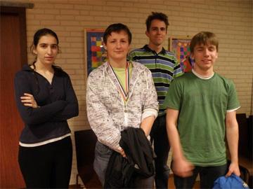 vlnr: Sofya, Roland, Jordy en Jan-Pieter