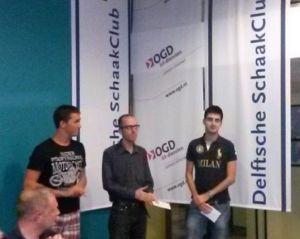 Demre Kerigan, Erik van den Doel en Benjamin Bok